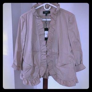 Ruffled Blazer Jacket